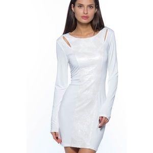 2 for 25 White Sequined Midi Dress